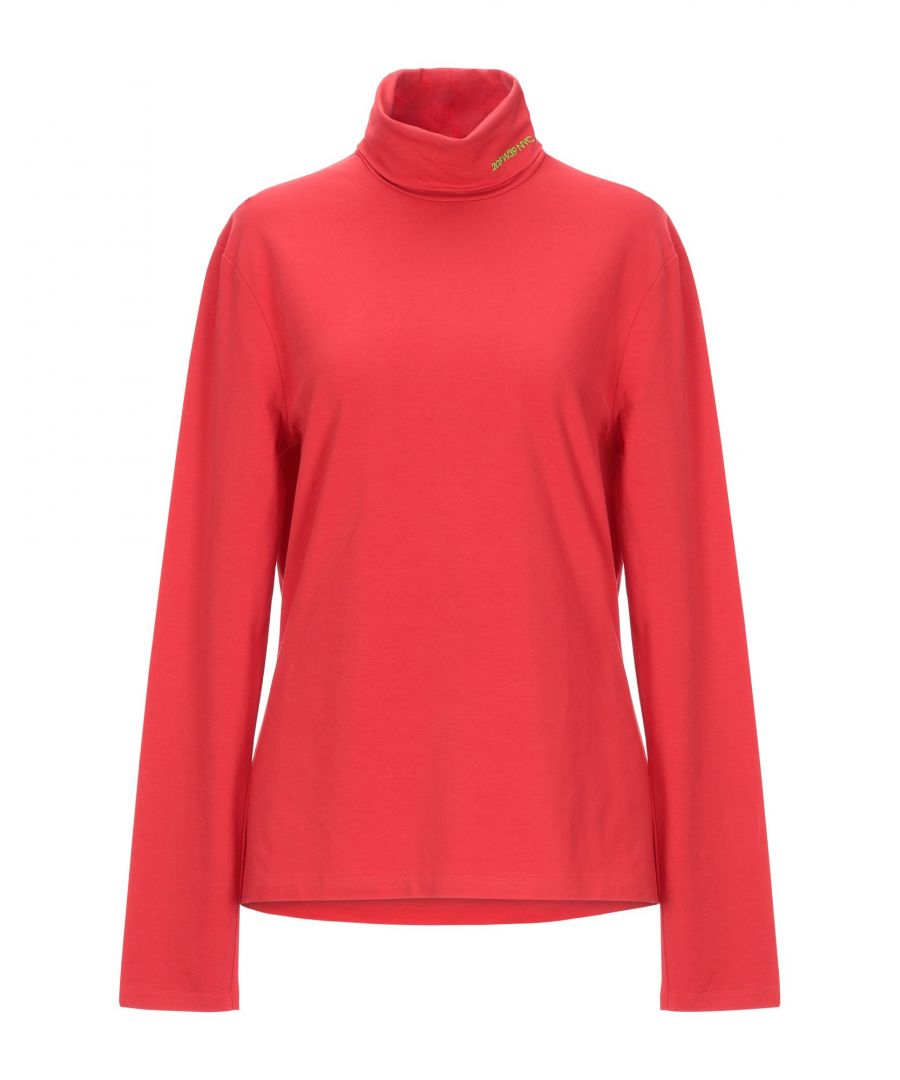 Image for Calvin Klein 205W39Nyc Red Cotton Long Sleeve T-Shirt
