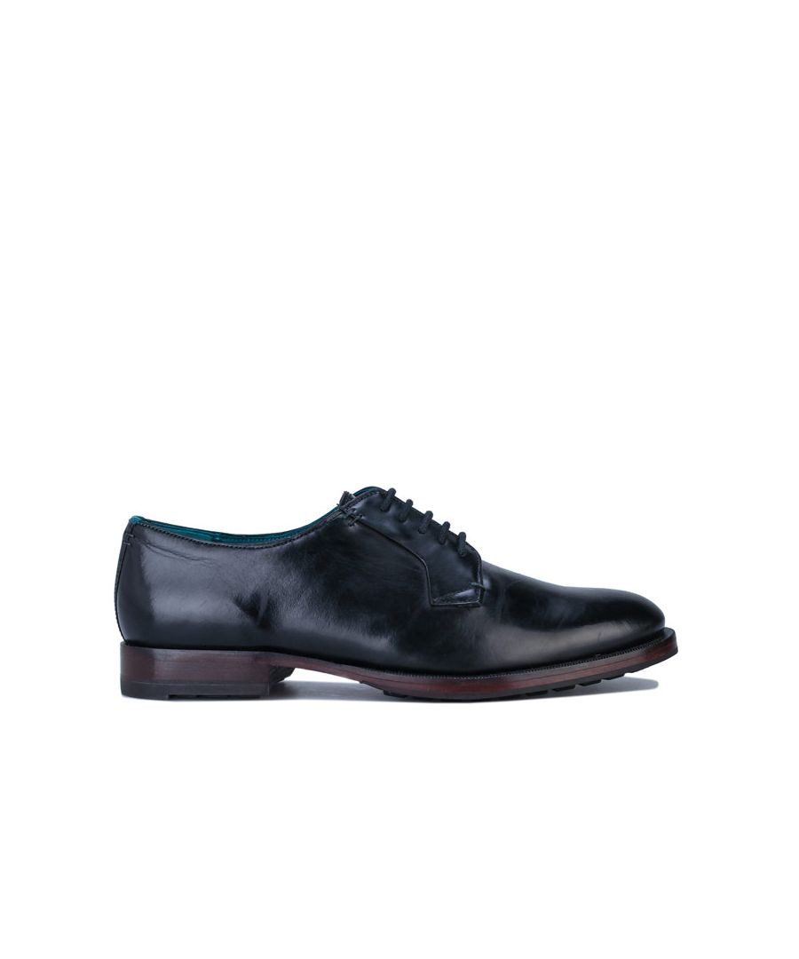Image for Men's Ted Baker Silice Leather Derby Shoes in Black