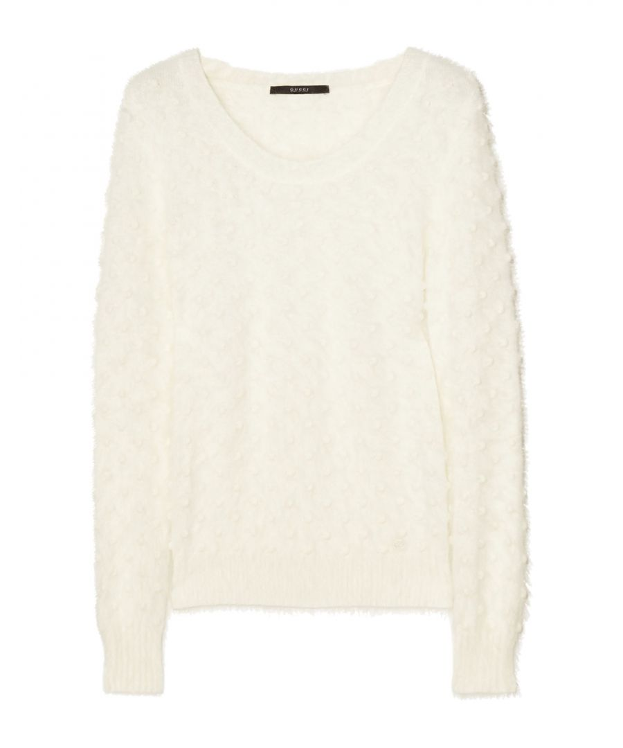 Image for Gucci White Angora Lightweight Knit Jumper
