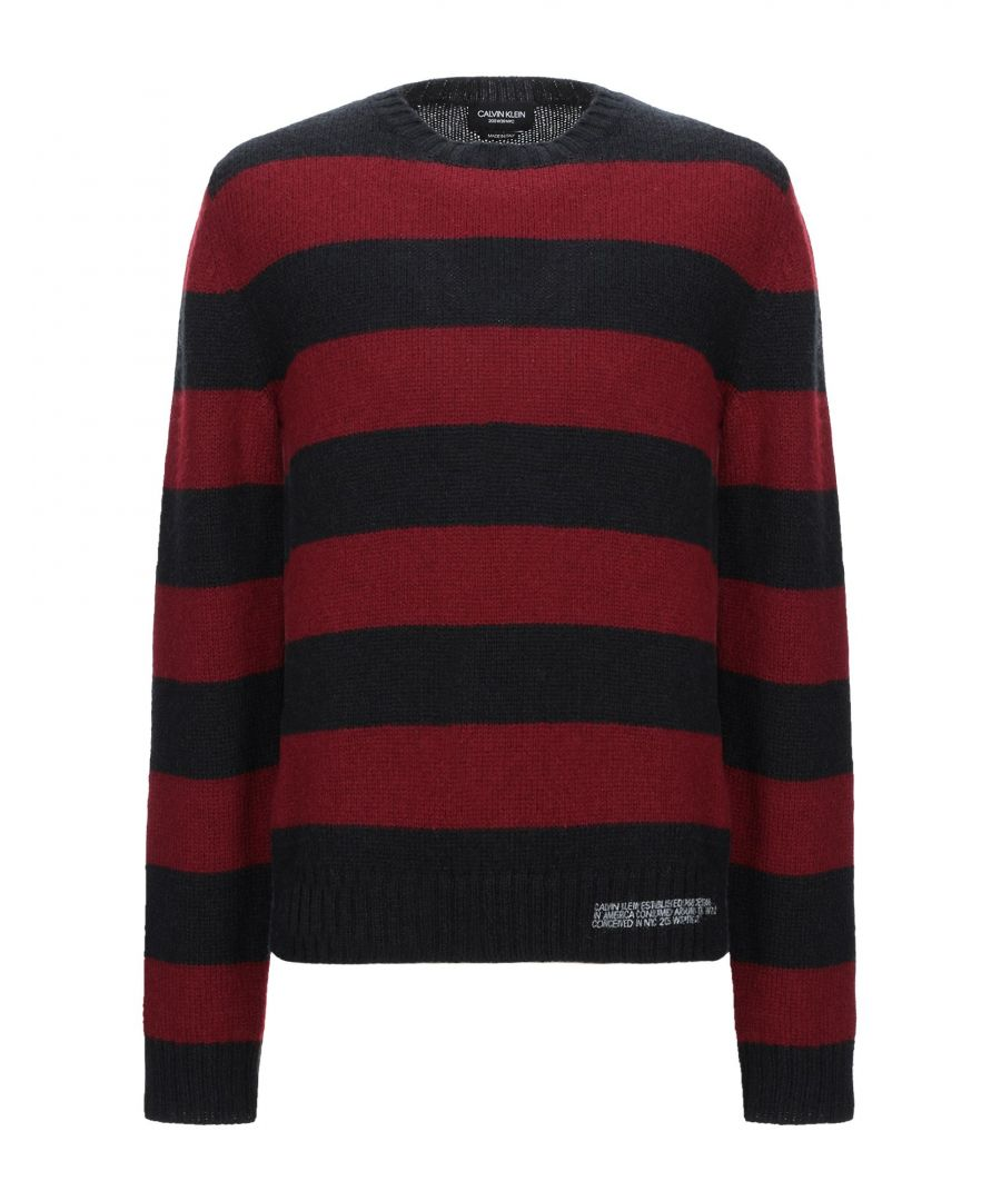 Image for Calvin Klein 205W39Nyc Black Stripe Wool Jumper