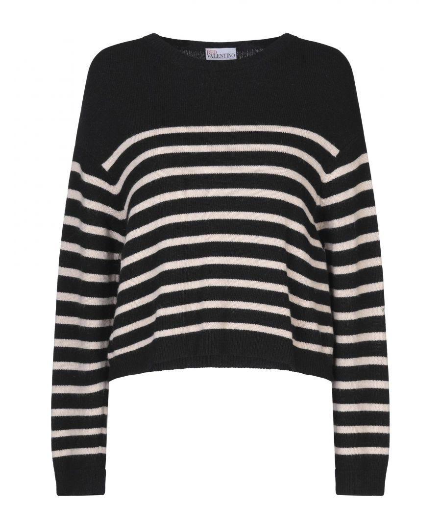 Image for Redvalentino Black Stripe Wool Jumper