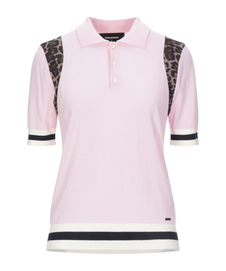 Image for Dsquared2 Light Pink Wool Short Sleeve Knit
