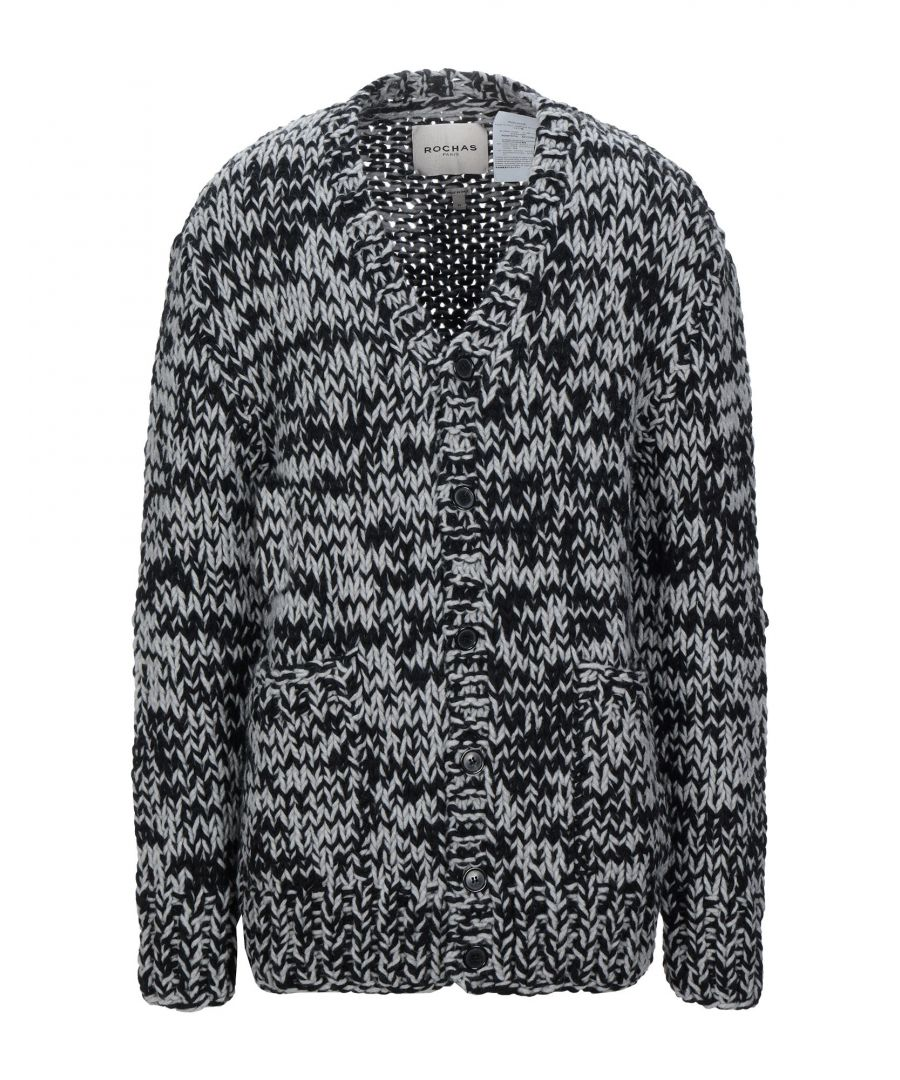 Image for Rochas Black Virgin Wool Knit Cardigan