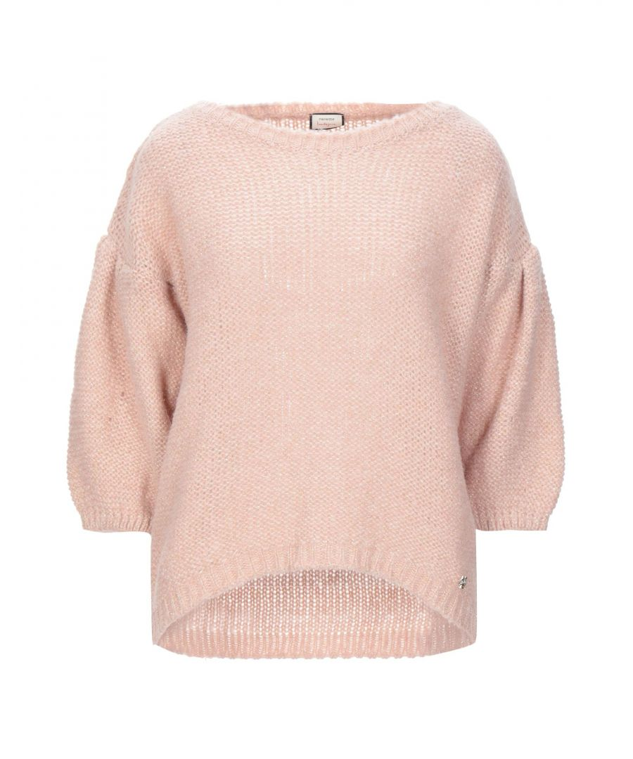 Image for Nenette Women's Jumpers Pastel Pink Acrilyc