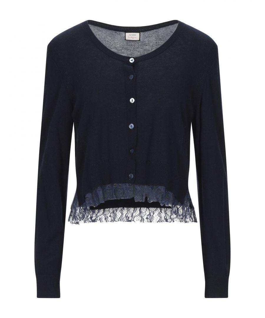 Image for Nenette Woman Wrap cardigans Dark blue Viscose