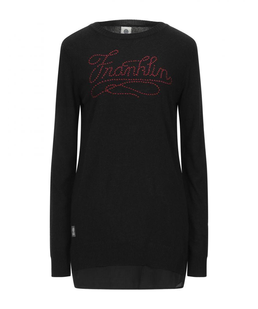 Image for Franklin & Marshall Black Embroidered Knit Jumper