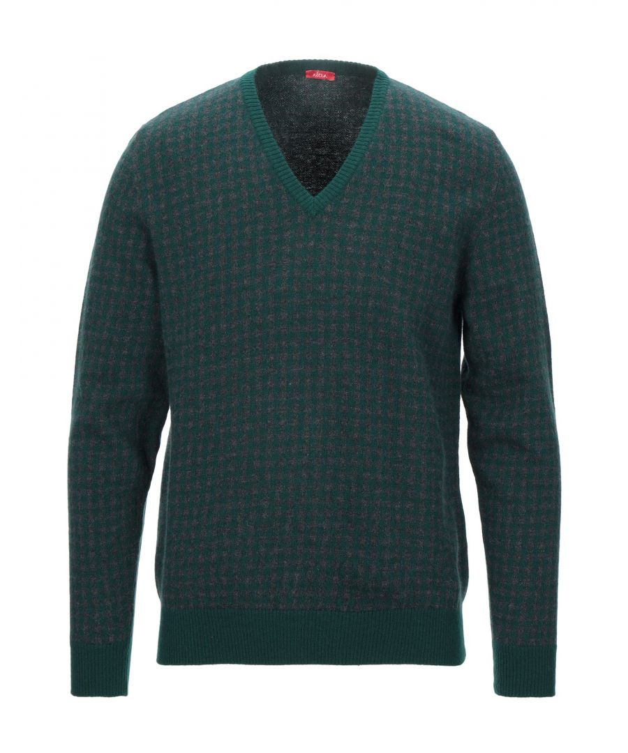 Image for Altea Dark Green Virgin Wool V Neck Jumper