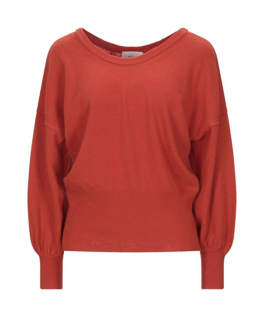 Image for Vicolo Orange Lightweight Knit Wide Neckline Jumper