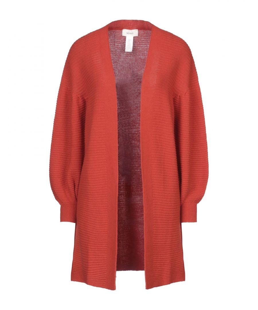 Image for Vicolo Orange Ribbed Knit Cardigan