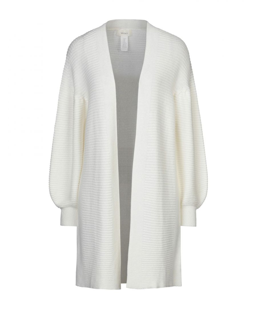 Image for Vicolo Ivory Lightweight Knit Ribbed Cardigan