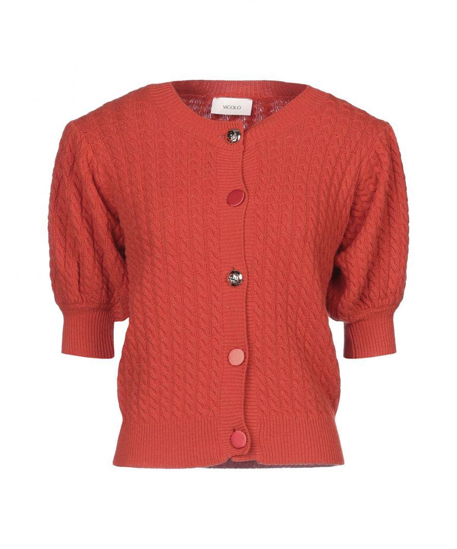 Image for Vicolo Orange Lightweight Knit Cardigan