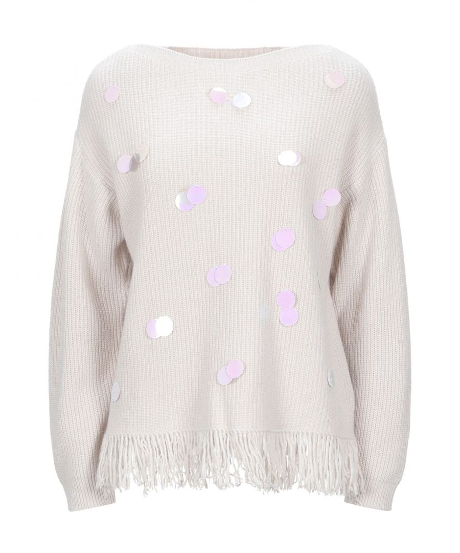 Image for Kaos Beige Sequin Knit Jumper
