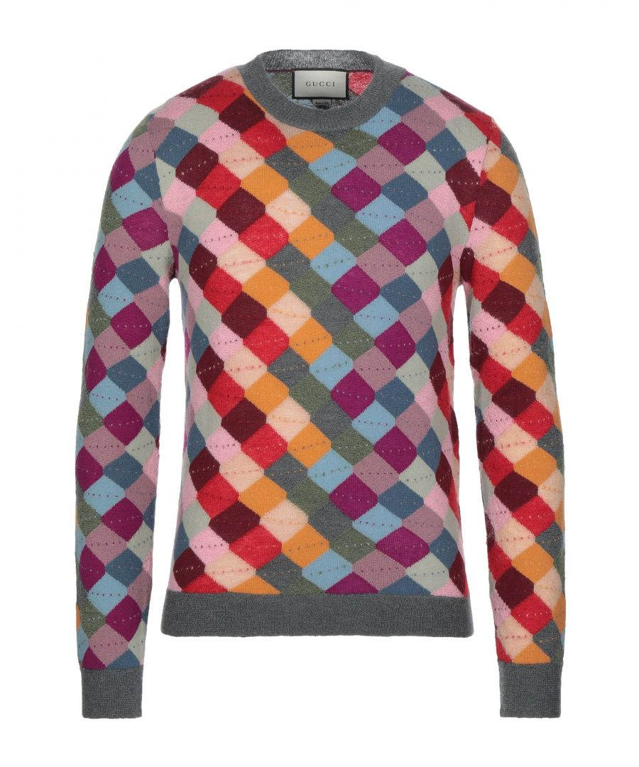 Image for Gucci Ochre Geometric Design Mohair Wool Jumper