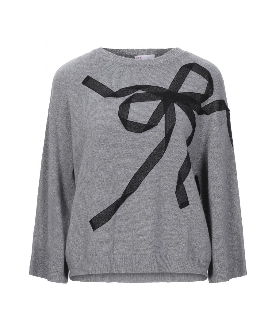 Image for Redvalentino Grey Wool Bow Jumper