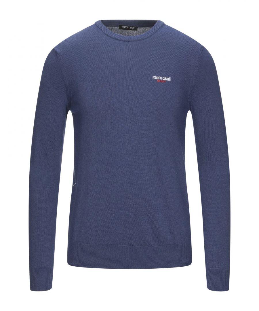 Image for Roberto Cavalli Sport Man Jumpers Blue Polyamid