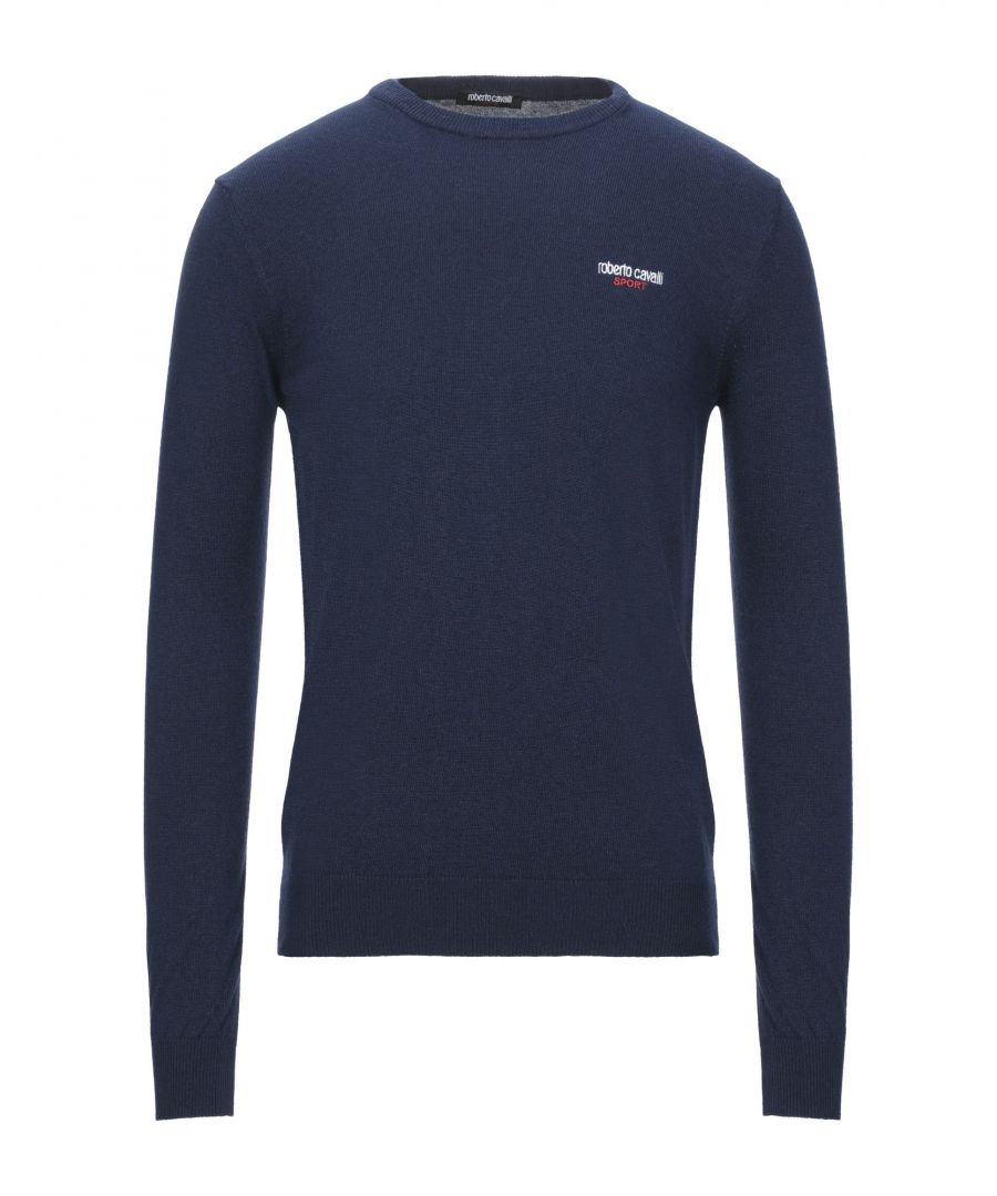 Image for Roberto Cavalli Sport Dark Blue Jumper