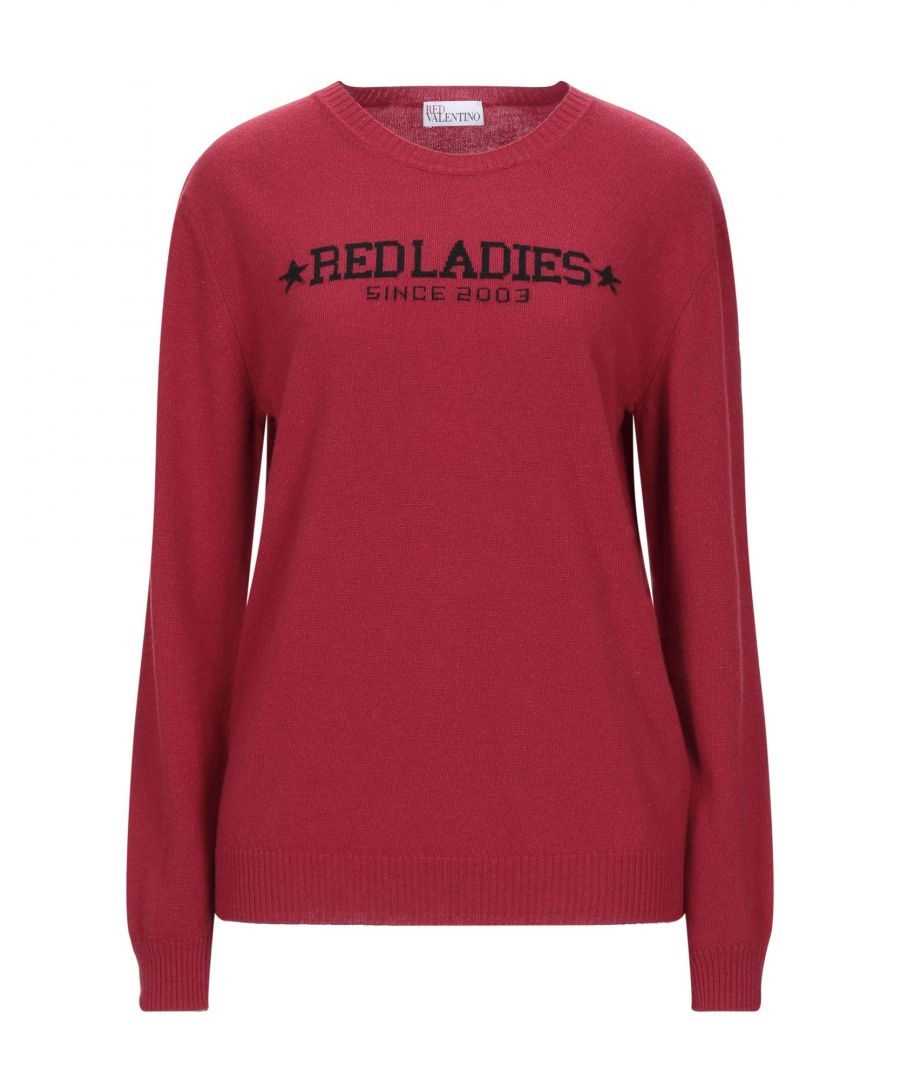 Image for Redvalentino Red Wool Logo Jumper