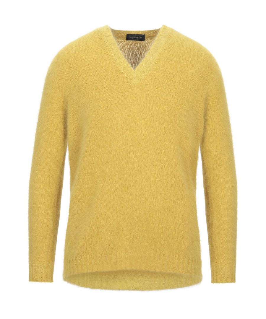 Image for Roberto Collina Yellow Angora Jumper