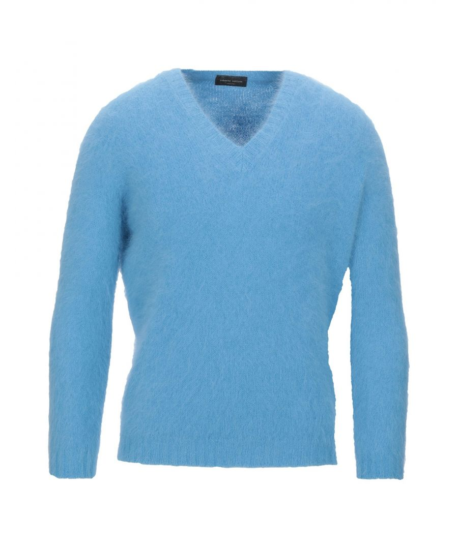 Image for Roberto Collina Sky Blue Angora Knit Jumper