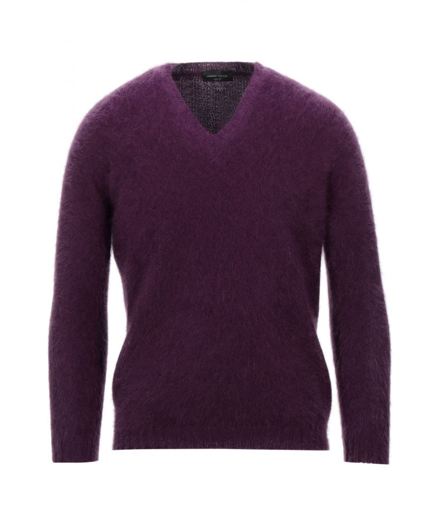 Image for Roberto Collina Purple Angora Jumper