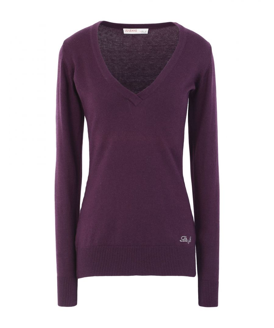 Image for Liu Jo Garnet Cotton Knit Embellished Jumper
