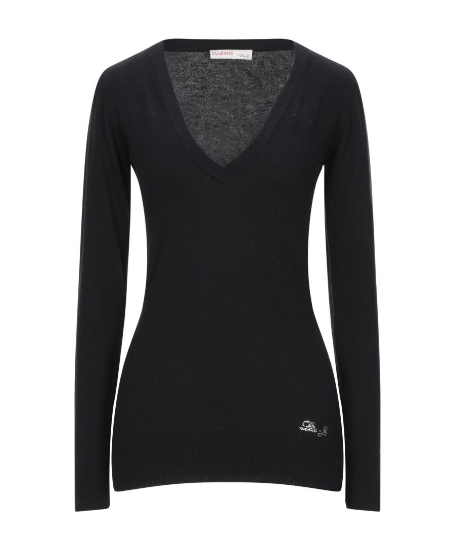 Image for Liu Jo Black Cotton Knit Jumper