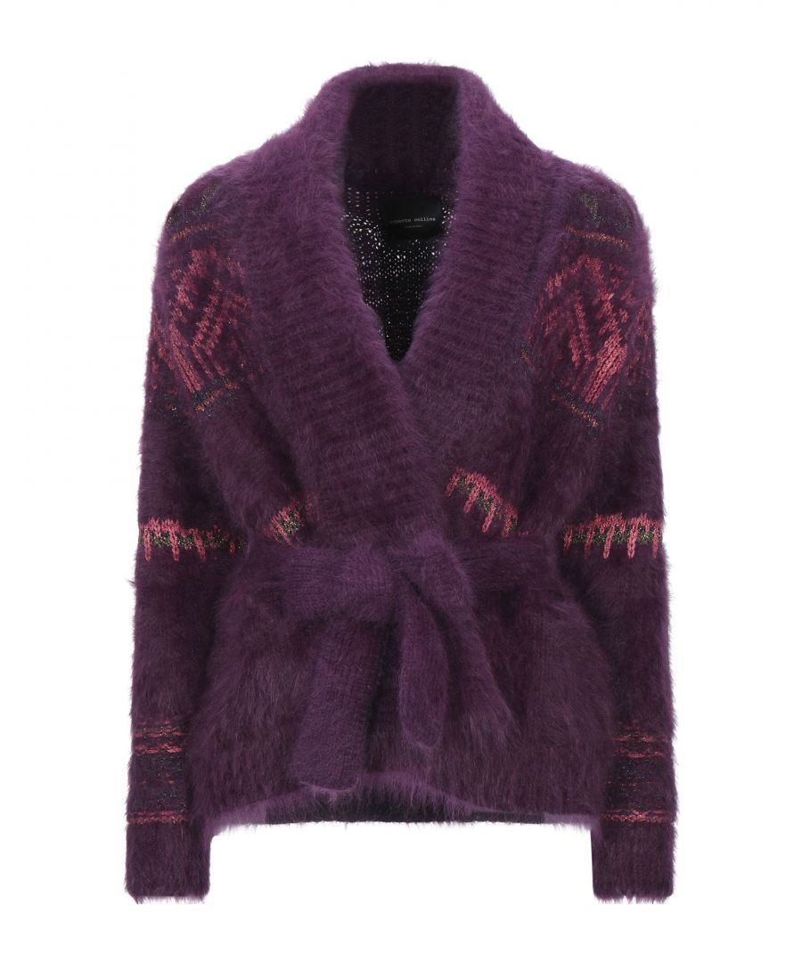 Image for Roberto Collina Mauve Angora Belted Cardigan