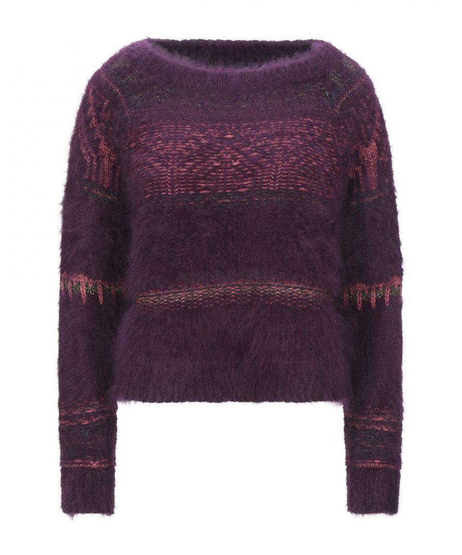 Image for Roberto Collina Deep Purple Angora Knit Jumper