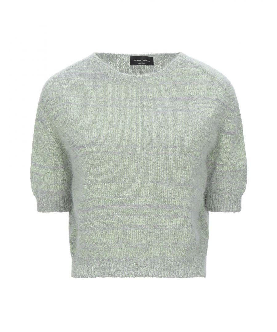 Image for Roberto Collina Acid Green Angora Short Sleeve Knit Jumper
