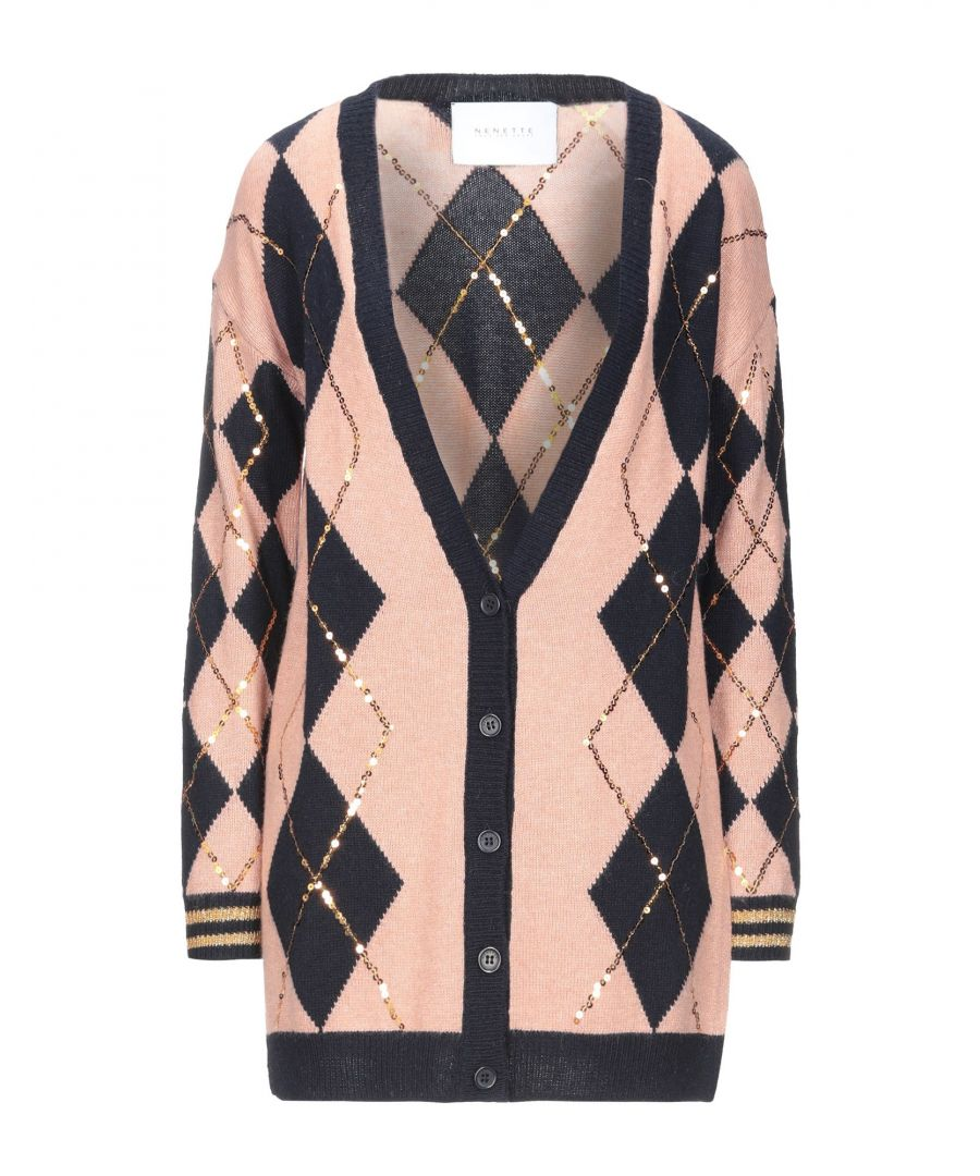 Image for Nenette Pale Pink Knit Sequinned Cardigan