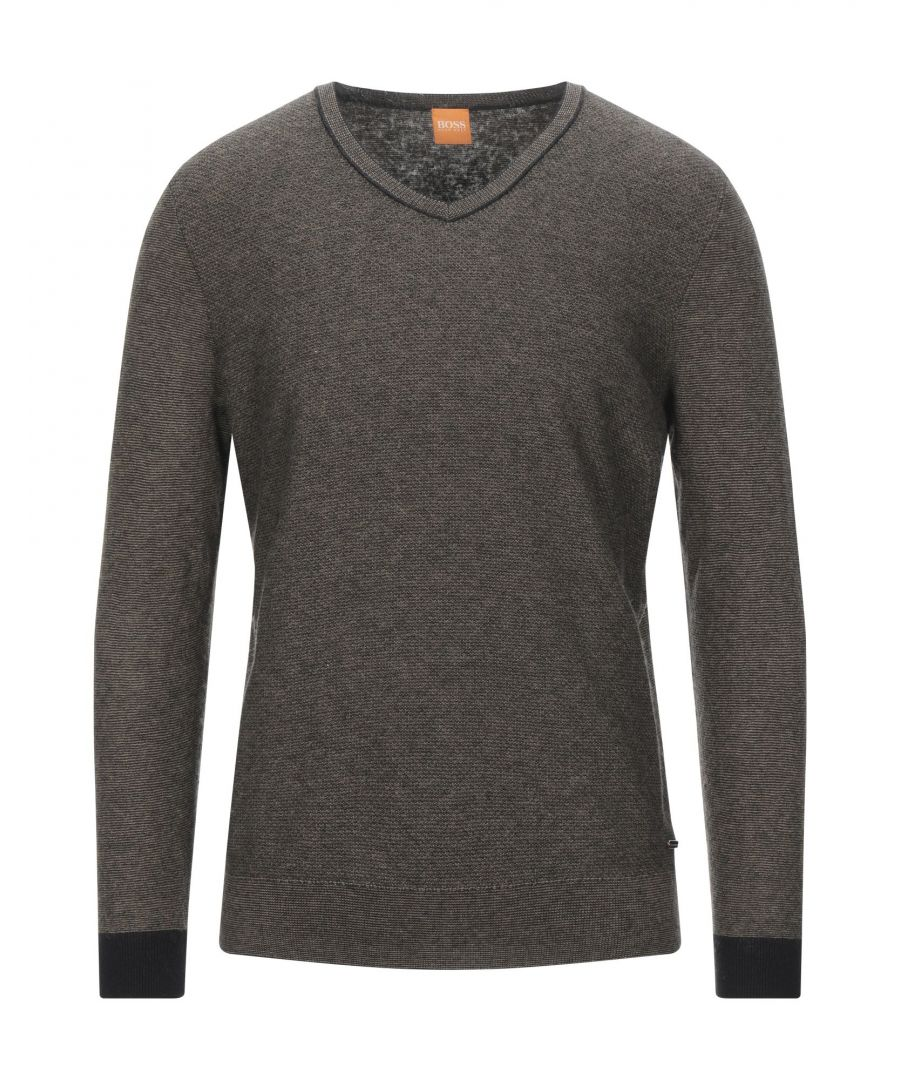 Image for Boss Hugo Boss Khaki Cotton Knit Jumper