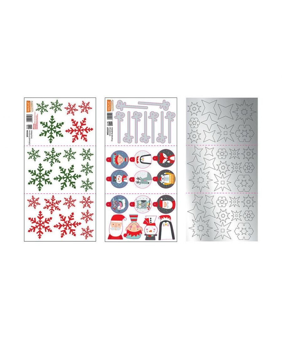 Image for WS33252627 - Colourful Snowflakes Christmas Friends WS3325 + WS3326 + WS3327