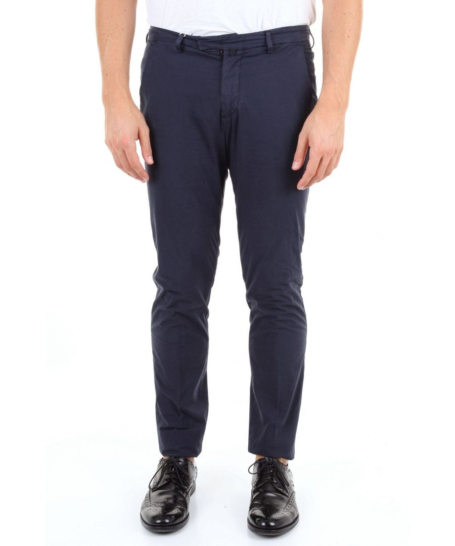 Image for BRIGLIA 1949 MEN'S BG0339510BLU BLUE COTTON PANTS