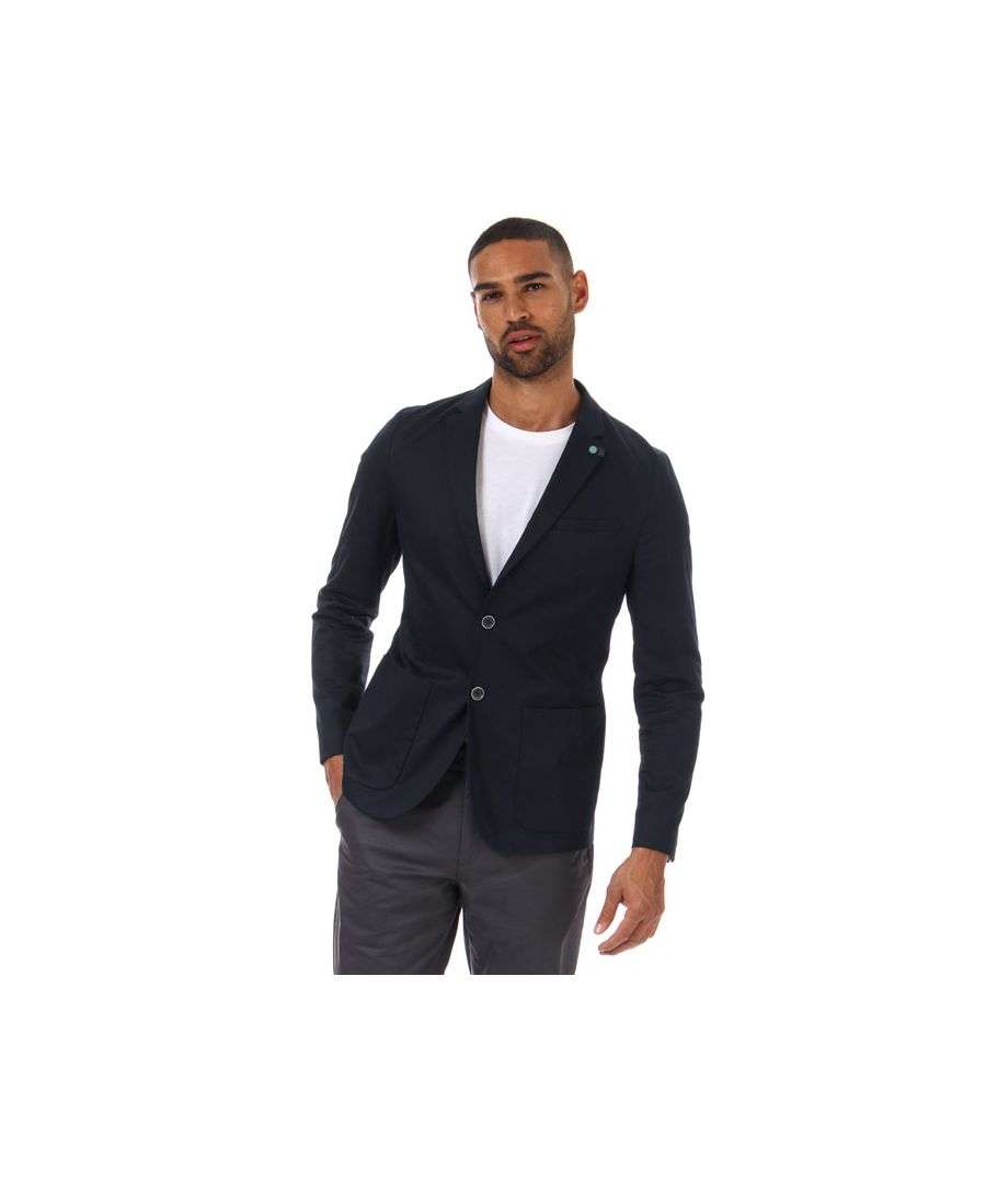 Image for Men's Ted Baker Cliford Piece Dyed Cotton Blazer in Navy