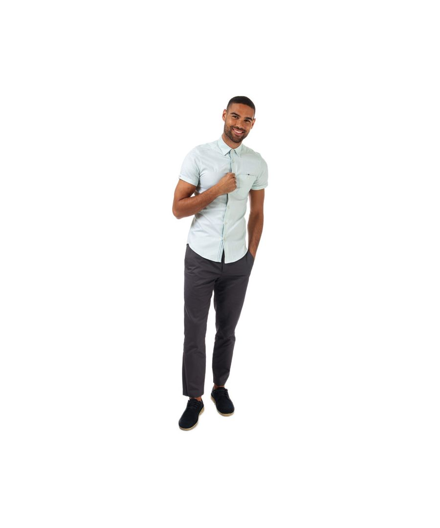 Image for Men's Ted Baker Wallo Oxford Cotton Shirt in Mint