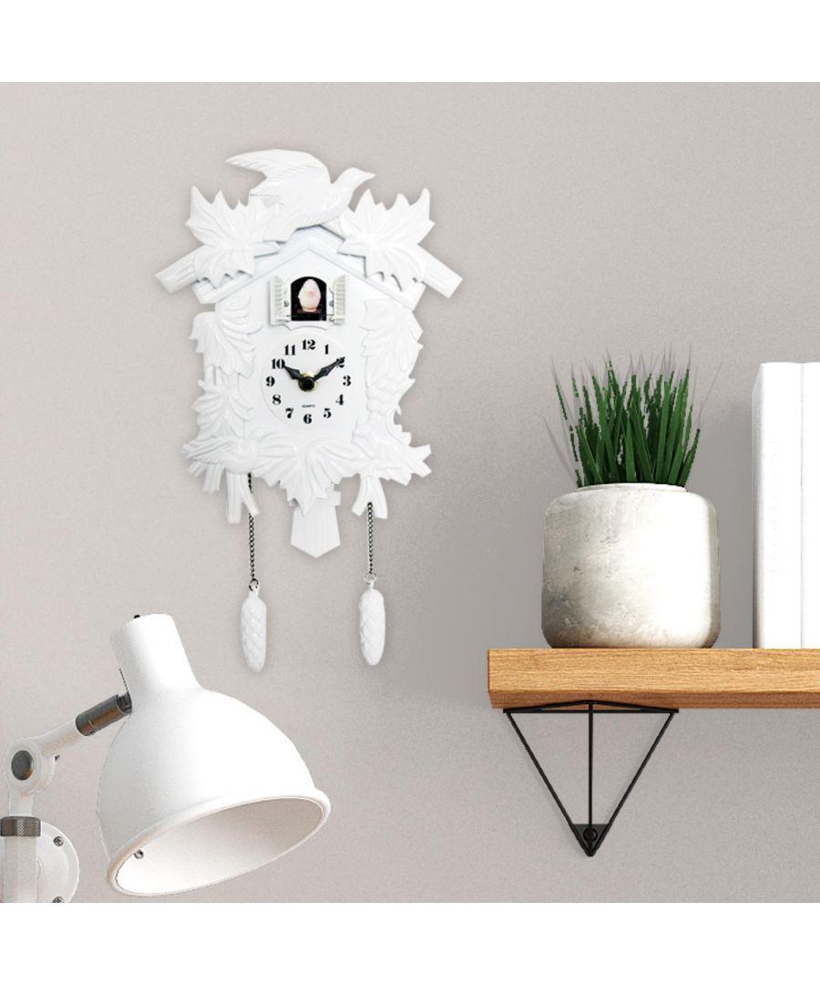 Image for Cuckoo Clock - White wall clock, wall clock vintage 20 cm x 36 cm x 10 cm 1 piece