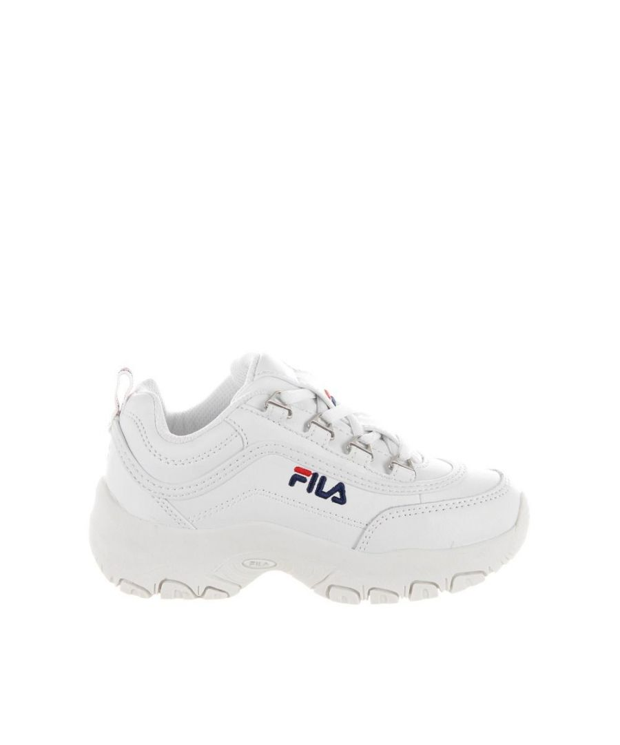 Image for FILA  BOYS 10107811FG WHITE FAUX LEATHER SNEAKERS