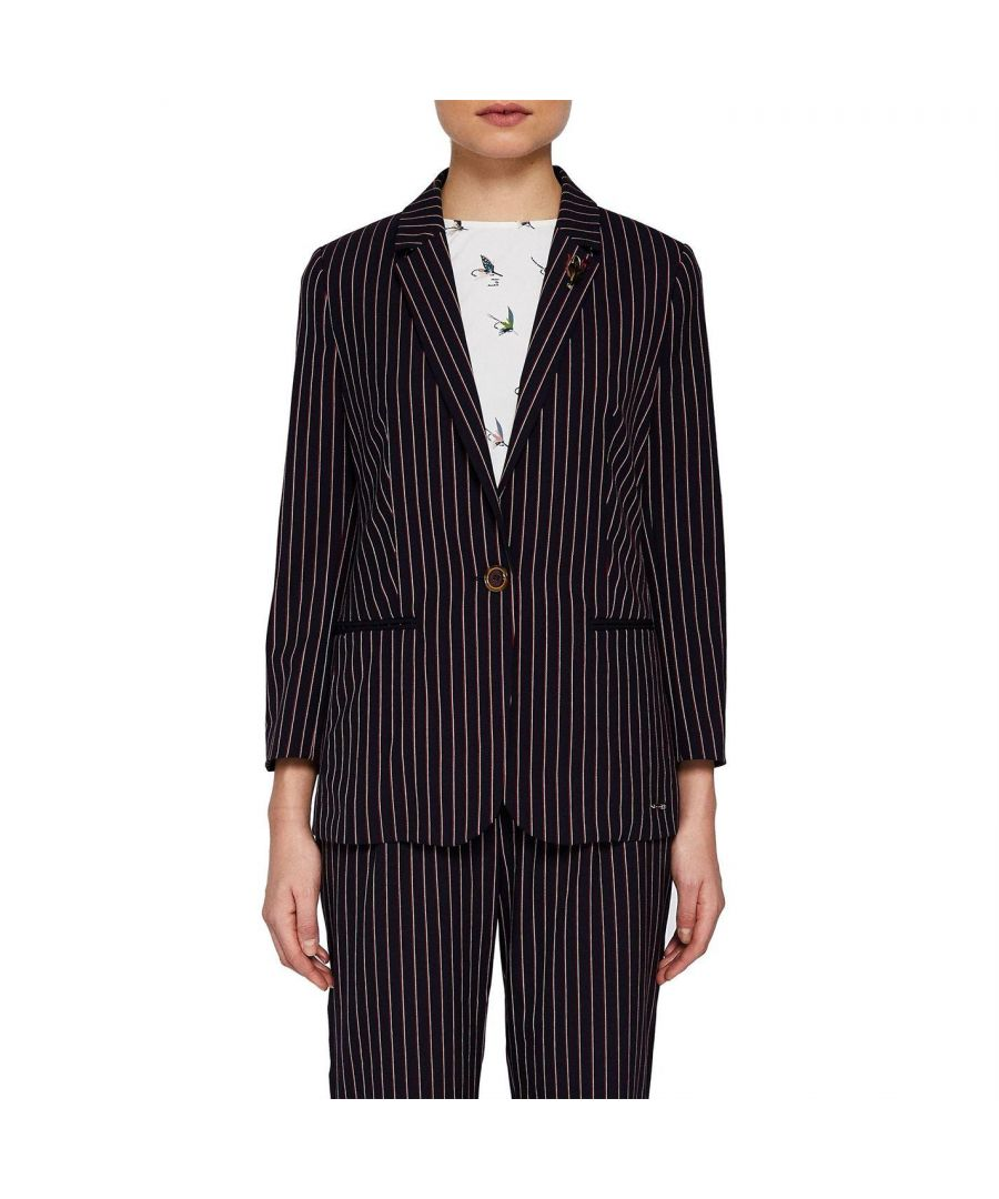Image for Ted Baker Lehh Striped Blazer, Red