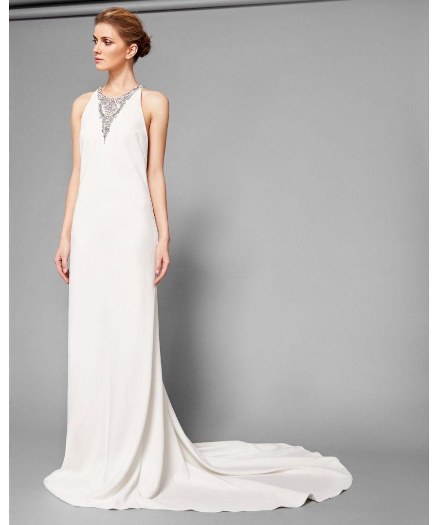 Image for Ted Baker Nabila Embellished Maxi Dress W Train, Ivory