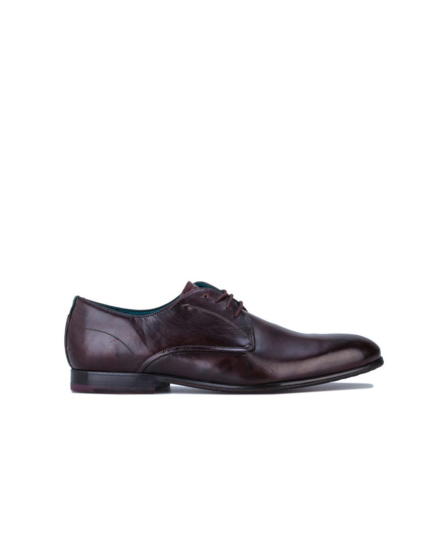 Image for Men's Ted Baker Fonntan Leather Derby Shoes in Brown