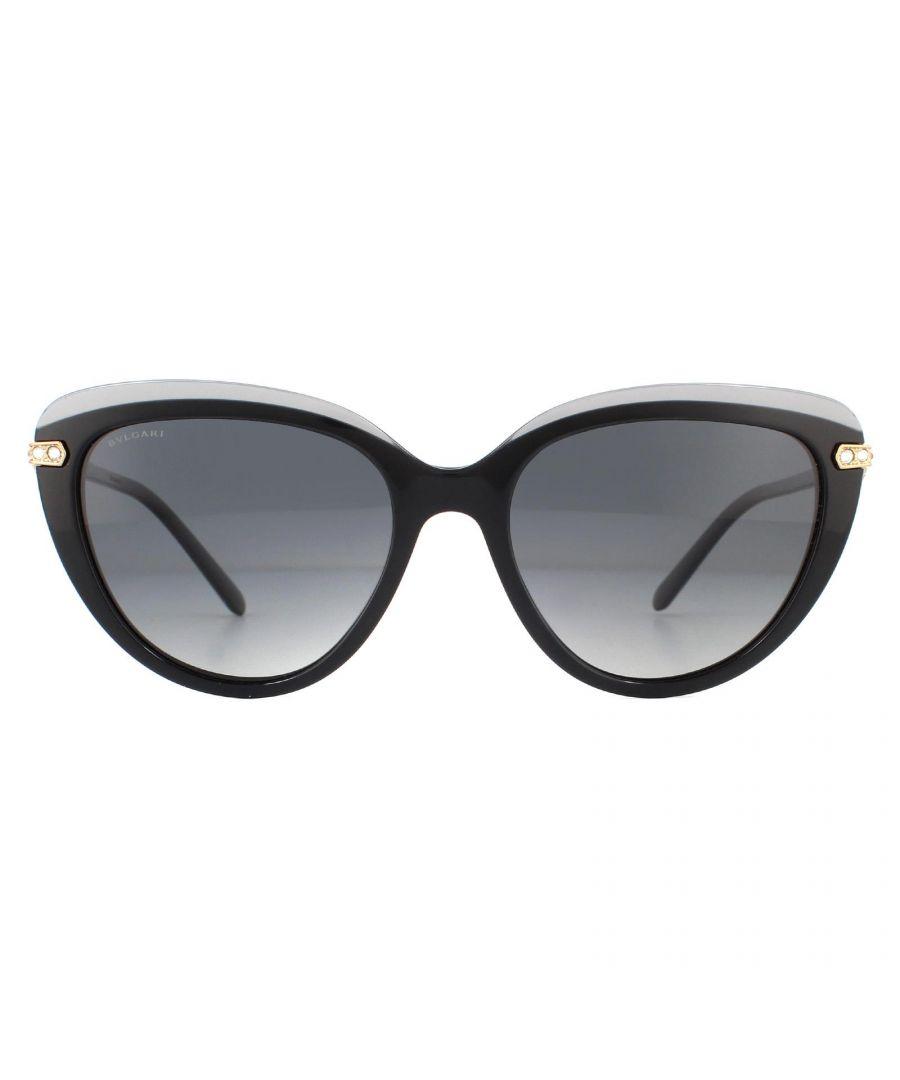 Image for Bvlgari Sunglasses BV8211B 5464T3 Top Transparent on Grey Grey Gradient