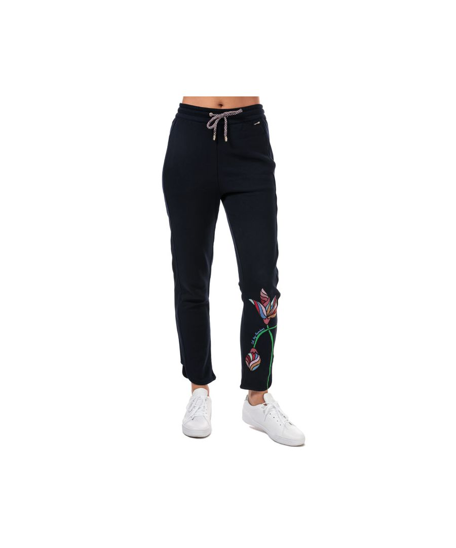 Image for Women's Ted Baker Eleani Floral Embroidery Jogger in Navy