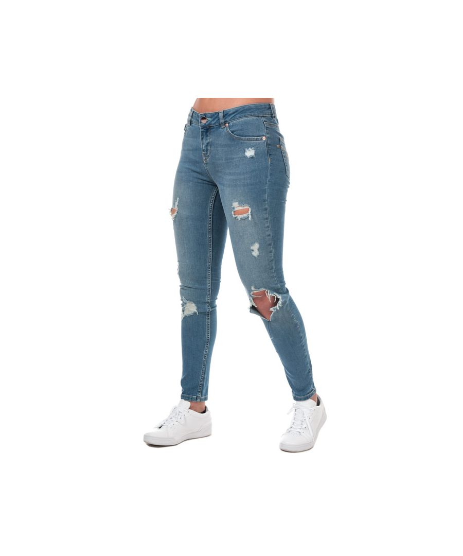 Image for Women's Ted Baker Kimmle Ripped Skinny Jeans in Blue