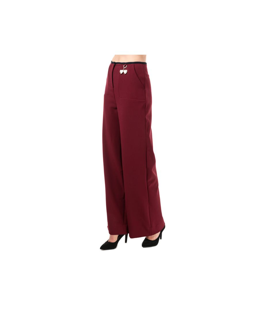 Image for Women's Ted Baker Zuleka Wide Leg Trousers in Burgundy