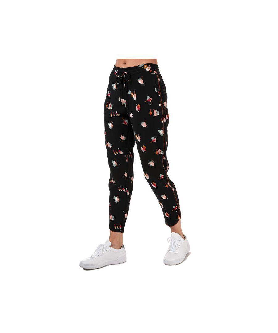 Image for Women's Ted Baker Flisie Floral Printed Jog Pants in Black