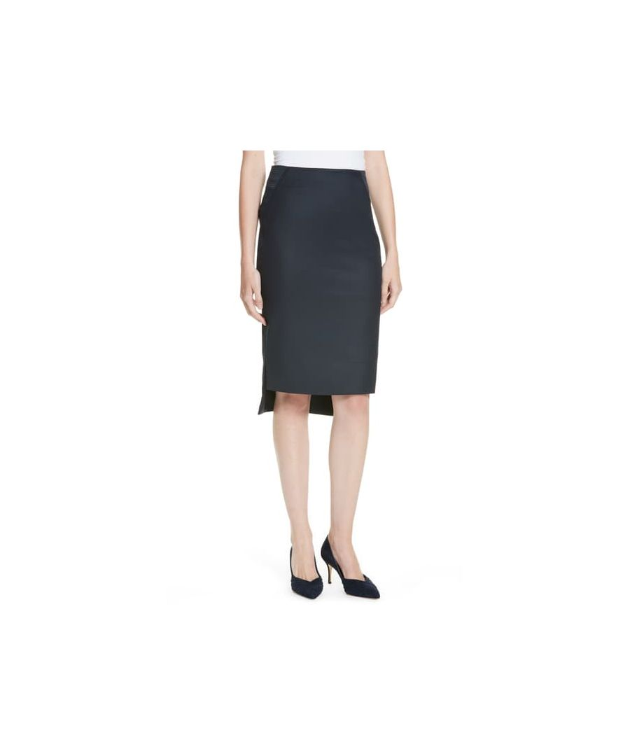 Image for Ted Baker Rivaas Pencil Skirt With Step Hem, Dark Blue