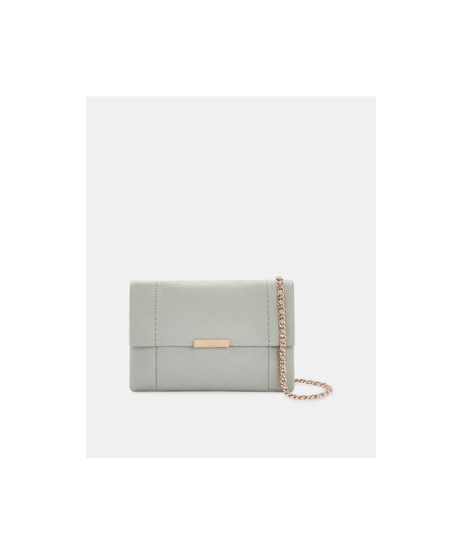 Image for Ted Baker Clarria Leather Cross Body Bag, Grey