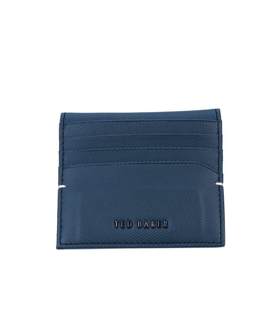 Image for Accessories Ted Baker Wonder Micro Perf Leather Card Holder in Navy
