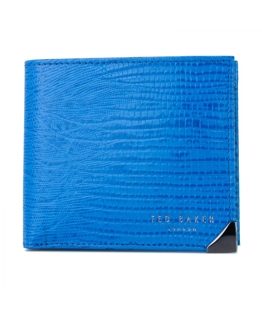 Image for Ted Baker Lobbee Lizard Bifold Wallet With Coin, Blue