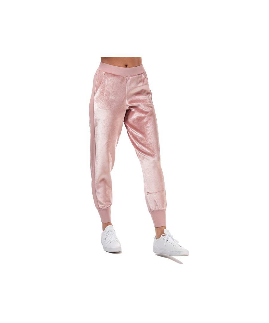 Image for Women's Ted Baker Keylee Velvet Jog Pants in Dusky Pink